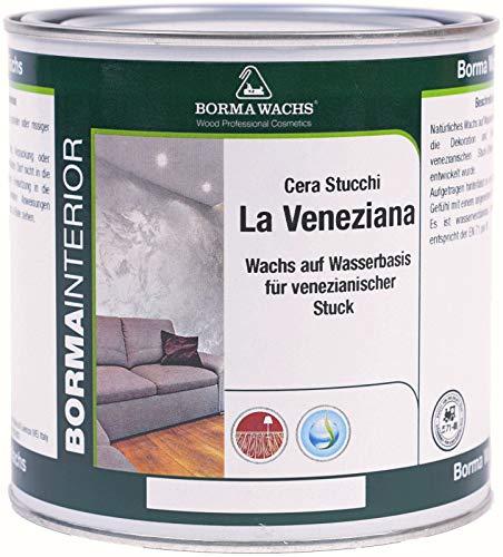 BORMA La Veneziana Wachs für Venezianischen Stuck Putz Wände 750ml