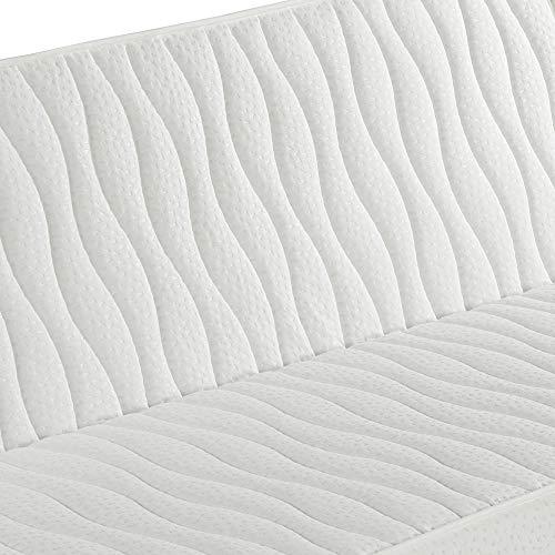 marcKonfort Matelas clic clac 130x190 pour canapé-lit, 13cm de Hauteur,Tissus strecht avec Rivet de sécurité.