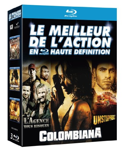 Coffret 3bluray : action agence tous risques - unstoppable - colombiana [Blu-ray] [FR Import]