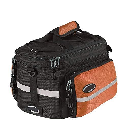 ZHTY Fahrrad-Packtasche hinten, abnehmbare Fahrradkoffer-Kofferraumtasche mit großer Kapazität Handtasche Schultergurt, Aufbewahrungstasche für Fahrradträger 5-Farben-Fahrradtasche