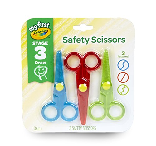 Crayola My First Safety Scissors, Toddler Art Supplies, 3ct