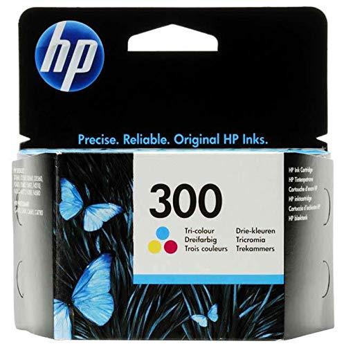 HP 300 - Cartucho de tinta Original HP 300 Tricolor para HP DeskJet D1660, D2560, D2660, D5560, F42244, F2420, F2480, F2492, F4210, F4272, F4280, F4580 HP Photosmart C4670, C4680,
