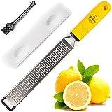 BelleGuppy Lemon Zester & Cheese Grater, Professional Zesting tool for Parmesan, Citrus, Ginger,...
