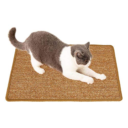 CCopnts Natural Sisal Cat Scratching Mat Scratch Pad for Cat Grinding Claws amp Protecting Furniture 1575 in x 2362 in