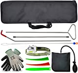 Essential Car Tool kit, Long Reach Grabber, Air Pump Bag, Non-Marring Wedges, with Carrying Case