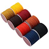 54yard/roll 3mm Thread Nylon Cord Chinese Knot Cord Red Dragon Scale Cord Macrame Rope Jewelry Making Decorative Thread String DIY Apparel Craft