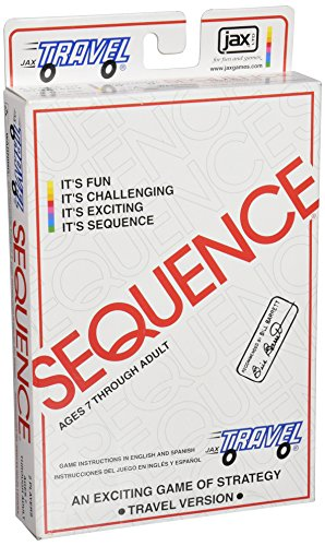 Jax Travel SEQUENCE - The Exciting Strategy Game in a Compact Travel Case! , White