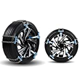 Mooderff, catene da neve universali per auto, 5 pezzi, pneumatici per auto, invernali, autostrada, pneumatici di sicurezza regolabili, antiscivolo