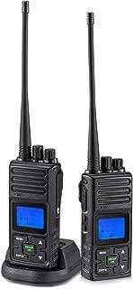 2 Way Radio 5 Watt Long Range, SAMCOM 20 Channels Walkie Talkie,Rechargeable Hand-held UHF Business Radio for Outdoor Hiking Hunting Travel,2 Packs