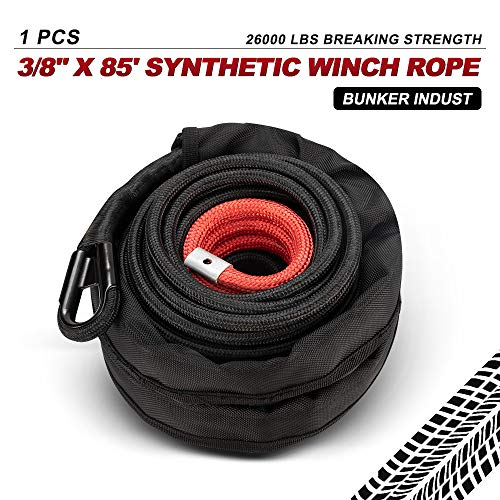"""ATV 3//16/"""" x 50/' Winch Cable w LARGE 3//8/"""" Hook-Fits most"""