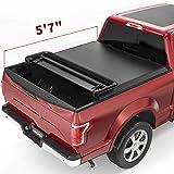 oEdRo Quad Fold Tonneau Cover Soft Four Fold Truck Bed Covers...