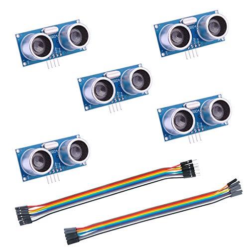 ELEGOO Arduino用 HC-SR04超音波距離センサー5PCS