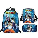 Mochila Dragon Ball Escolar, Dragon Ball Z Mochilas Escolares Juveniles para Niños Infant...