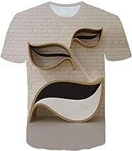 Herren 3D Flut Gedruckt Kurzärmlig T-Shirt Oben Bluse