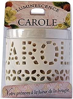LA CARTERIE 76009035Carole Tealight Holder with Tealight 11.1x 7x 7cm Porcelain White