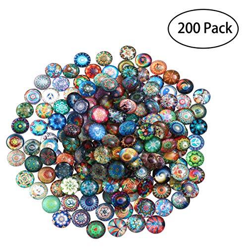 Healifty 200 Stück Mosaikfliesen Kunsthandwerk Erwachsene & Kinder Glasmosaikfliesen für DIY Kunsthandwerk Dekoration 10Mm