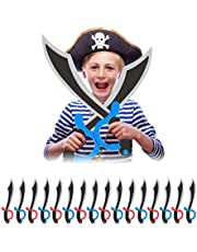16 x piratenzwaard in set, schuimstof, carnaval, Halloween, voor kinderen, piraten zwaard, 41 cm lang, gekleurd