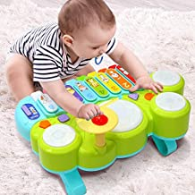 Xylophone Table Music Toys of Ohuhu, Multi-Function Toys Kids Drum Set, Discover & Play Piano Keyboard, Xylophone Set Electronic Learning Toys for Baby Infant Toddler for Kids