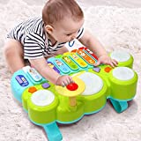 Xylophone Table Music Toys of Ohuhu, Multi-Function Toys Kids Drum Set, Discover & Play Piano Keyboard, Xylophone Set Electronic Learning Toys for Baby Infant Toddler Valentine's Day Gifts for Kids