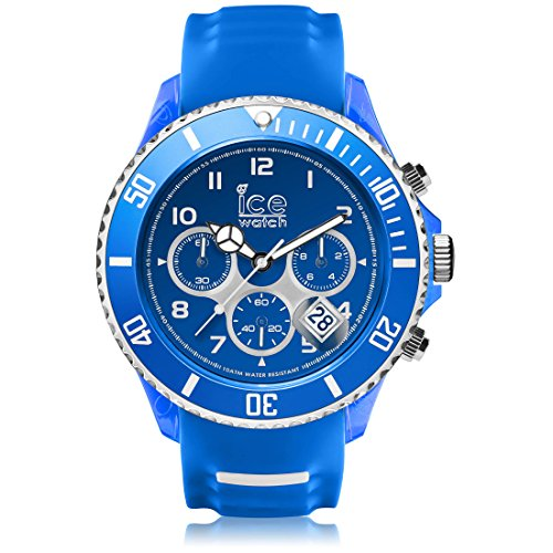 Ice-Watch - ICE sporty Blue White - Men's wristwatch with silicon strap - Chrono - 001340 (Extra large)
