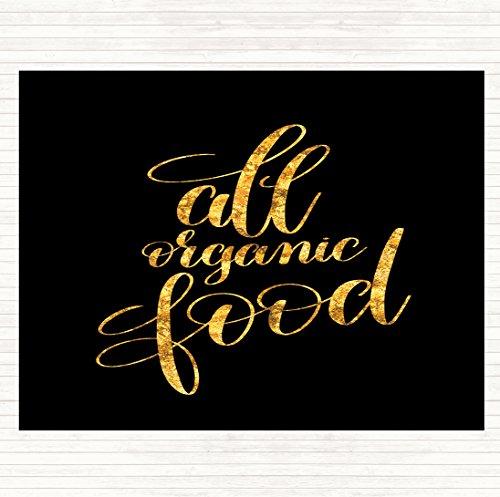 Alle organische voedsel citaat muis mat pad