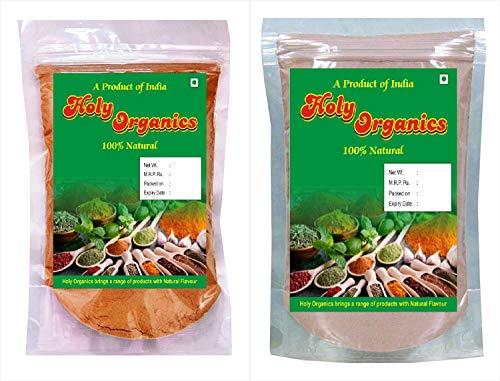 Holy Organics Natural Sandalwood (Santlum Album) Rose Petals (Rosa Centifolia) Powder For Naturally Glowing Skin, Multi, 100 g (Pack of 2)