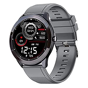Maxima Max Pro X4 Smartwatch with SpO2,Upto 15 Day Battery life,Full-touch Ultra Bright 320*320 display of Upto 380 Nits,10+ Sports Mode,Continuous Heart Rate Monitoring&Unlimited Customized Watch Faces