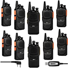 Baofeng Pofung GT-1 UHF 400-470MHz FM Two-Way Ham Radio Orange (LOT 10) + 1 x Programming Cable, 10 Pack