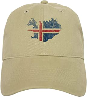 Iceland Flag and Map Baseball Cap