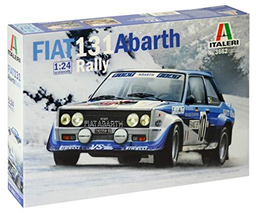 Italeri 3662 Modelo de plástico para Montar, Coche, Fiat 131 Abarth Rally, Modelo Kit, Escala 1:24