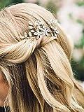 Simsly FS-200 - Horquillas para el pelo de boda con cristales brillantes para novia y dama de honor (2 unidades)