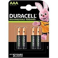 Duracell Pilas Recargables AAA 900 mAh, paquete de 4
