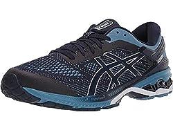 top 10 flat feet running shoes ASICS Men's Gel Kayano 26 Midnight / Gray Floss 9 D (М)