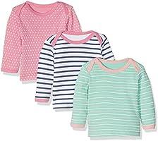 Care 550140 Camiseta Manga Larga, Multicolor (Rose), 0-3 Meses/56 cm, Pack de 3