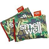 SmellWell Bolsas purificadoras de Aire para Eliminar olores (2 Unidades, 100 g), ambientadores de carbón de bambú Activado para Uso Desde Gimnasio hasta Coche hasta casa (Camuflaje Verde, Original)