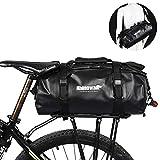 Rhinowalk Selighting Bolsa Alforja Trasera para Bicicleta 25L, Grande Bolsa Bicicleta Multifunción Carretera MTB Bicicleta de Montaña (Verde)