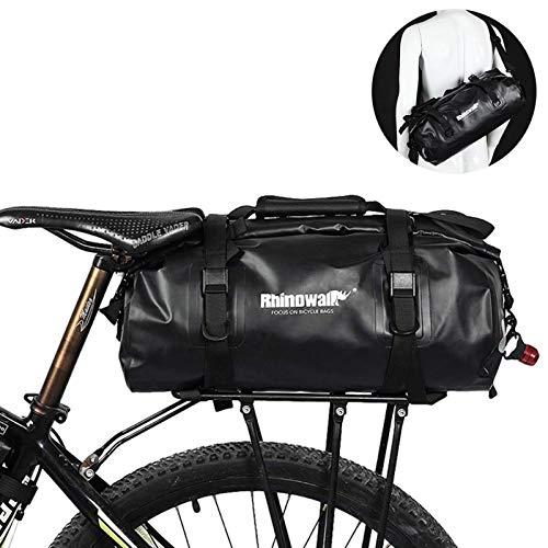 Selighting Fahrrad Gepäckträgertasche Wasserdicht Fahrradtasche Schultertasche für MTB Rennrad Faltrad (Schwarz)