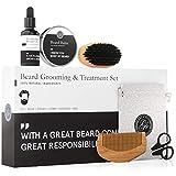 Balsamo per barba e kit per la cura dell'olio - Condizioni, lucidanti e aiuti per la cresc...