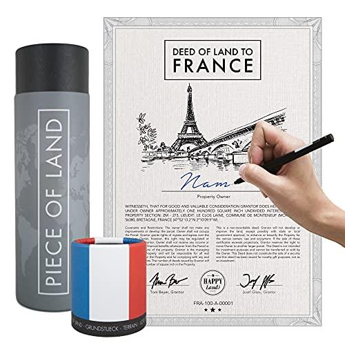 happylandgifts® Echtes Frankreich Grundstück als einzigartiges Geschenk   Besitzurkunde mit Wunschname zum selber eintragen   Bretagne Geschenke   Geburtstagsgeschenke