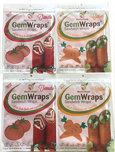 GemWraps 24ct Value Pack- Carrot & Tomato