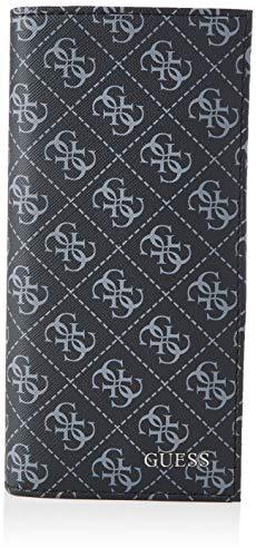 Guess Herren VEZZOLA Long Wallet Reisezubehr- Brieftasche, schwarz, Einheitsgröße