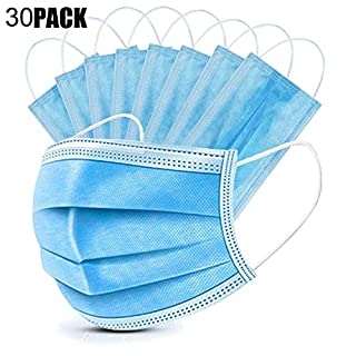 Soroling Personal 30PCS Filter 3-ply Face Protection Dust-Proof Anti Spittle Eye Mask for Earloop, Blue (B086JVNMXB) | Amazon price tracker / tracking, Amazon price history charts, Amazon price watches, Amazon price drop alerts