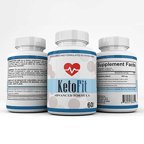 Keto Fit Advanced Formula - Ketosis Weight Loss Support - 120 Capsules - 3 Month Supply - KetoFIT 1