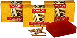 Vaadi Herbals Divine Sandal Soap with Saffron and Turmeric, 75g x 3
