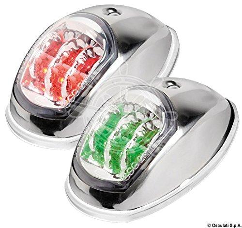 Osculati 11.039.21 LED-lamp van EVOLED-licht met spaarlampen, roestvrij staal gepolijst, 112.5