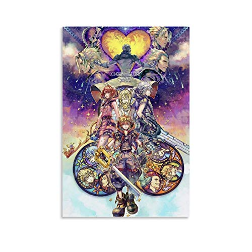 QNMLGB Kingdom Hearts Canvas Art Poster and Wall Art Picture Print Modern Family Bedroom Decor Posters 08x12inch(20x30cm)