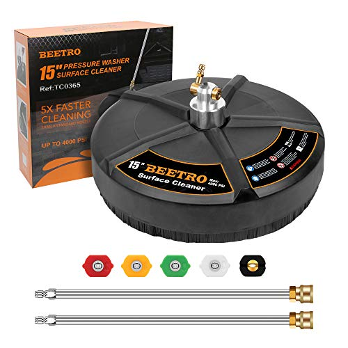 BEETRO Pressure Washer Surface Cleaner, 15 Inch Surface...