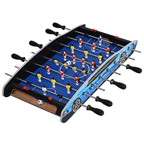 HOMCOM 29 Inch Mini Tabletop Football Foosball Gaming Table Play Fun Game Toy 74.5L x 36.1W x 12H CM