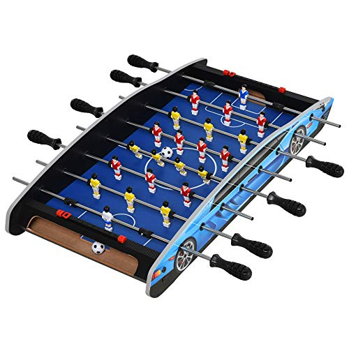 HOMCOM 29 Inch Mini Tabletop Football Foosball Gaming Table Play Fun Game Toy 74.5L x 36.1W x 12H CM