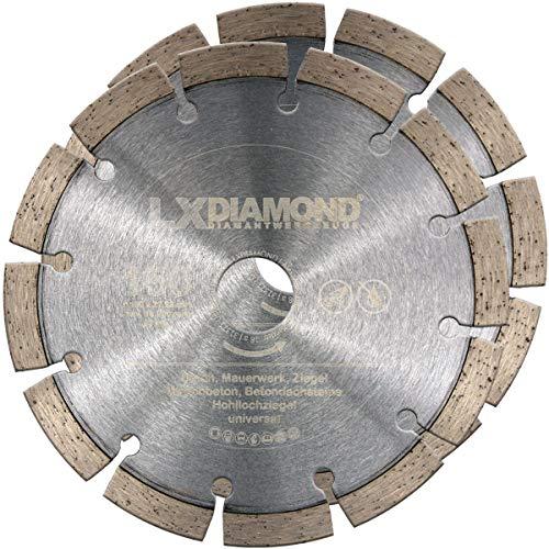 LXDIAMOND 2 discos de corte de diamante Ø 150mm x 22,23mm piedra de hormigón adecuada para fresadoras de diamante, ranuras de pared, fresadoras de pared, disco de diamante de 150 mm